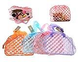 Neceser Playa Transparente Bolsa de Aseo Neceser PVC Lunares Impermeable Mujer Organizador de Viaje Bolsa de Cosmético Color Aleatorio