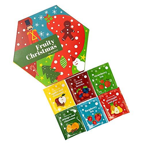 Fruity Christmas Tea Set by ACORUS - Assorted Speciality Teas Selection Box (60 Tea Bags)