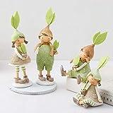 WWZYX Decoracion Modernos Decoración del Hogar,4 Set Pareja Figura Adornos para el hogar Resina Niños Miniaturas Angel Figurine
