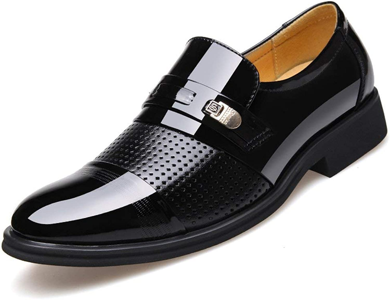 Blivener Men's Tuxedo Patent Leather Dress shoes Slip on Oxfords 03NBlack 11