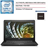 2020 Dell Vostro 14 3000 14' Business Laptop Computer, Intel Core i3-7020U 2.3GHz, 8GB DDR4 RAM, 1TB HDD, 802.11AC WiFi, Bluetooth 4.2, HDMI, USB 3.0, Windows 10 Professional+ SPMOR Mousepad