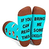 Zmart If You Can Read This Bring Me Chocolate Unisex Socks-Funny Novelty Chocolate Gift For...