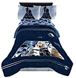 Jay Franco Star Wars 'Space Logo' Sheet Set - R2D2 and C3PO - Soft and Comfortable Microfiber Sheets (Full)