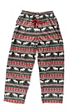 Lazy One Pajama Pants for Men, Men's Separate Bottoms, Lounge Pants (Moose Fair Isle, XX-Large)