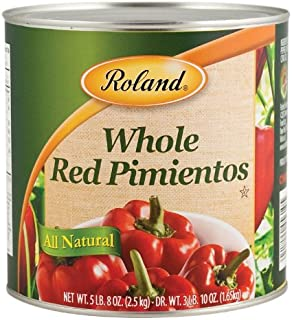Roland Red Pimientos, Whole, 88 Ounce (Pack of 2)