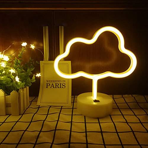 Nube Neon Signs Luce Neon Lights LED Warm White Room Decor batteria e gestiti USB lampade da comodino con la base della decorazione della casa per soggiorno bambini Camera Festa di Natale & regalo di