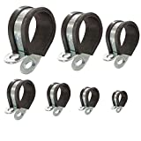 Fascette stringitubo con inserto di gomma P-clips staffa per fissare tubi e cavi: Ø 20mm ...