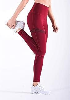 Pantalones De Mujer Leggings De Fitness Impresos Pantalones De Cintura Alta Corriendo Gimnasio Deporte Jogging Pantalones (Color : Rojo, Size : XL)