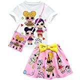 Camiseta de Baby Cute Dolls Confetti Pop + falda + bolso Lil Outrageous Little Girl Dress para niñas de Dgfstm style8 4-5 Años