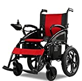 2020 Updated Electric Wheelchairs Silla de Ruedas Electrica para Adultos Airline Approved Transport Friendly Lightweight Folding Electric Wheelchair for Adults by Comfy Go (Red)