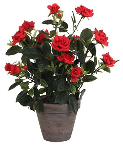 Mica dekorationer ros konstväxt, röd, 25 x 25 x 33 cm