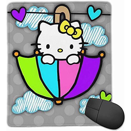ASDAH anti-slip muismat paraplu Hello Kitty premium muismat voor desktop-laptop-toetsenbord consoles