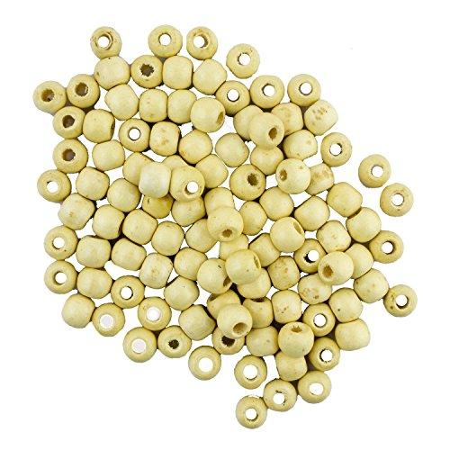 HAND® MZ - 9 * 10 Creme Holzperlen für Schmuck, Basteln, Ketten und Armbänder 9x10mm 200PCS (60 g)