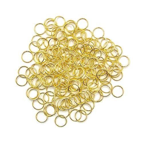 Grosun 500Pcs 10mm Gold Open Jump Rings Open Connectors Circle Metal Findings