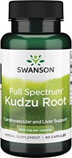 Swanson Kudzu Root Cardiovascular Liver Health Supplement 500 mg 60 Capsules (Caps)