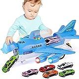 PCARM Modelo de coche 2-8 años de edad chicos Large Track inercia aleación de metal fundido eléctrico Avión de juguete retroceso regalos Vehículos Aviones Airbus con las luces y sonidos Niños Plano de