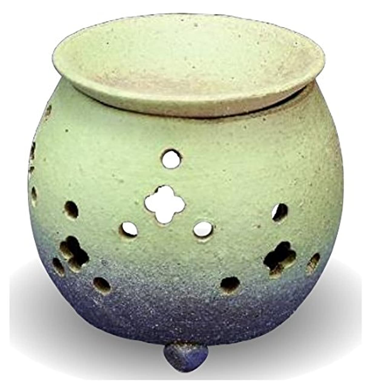 目覚めるグロー配列常滑焼 茶香炉(アロマポット)径10×高さ11.5cm