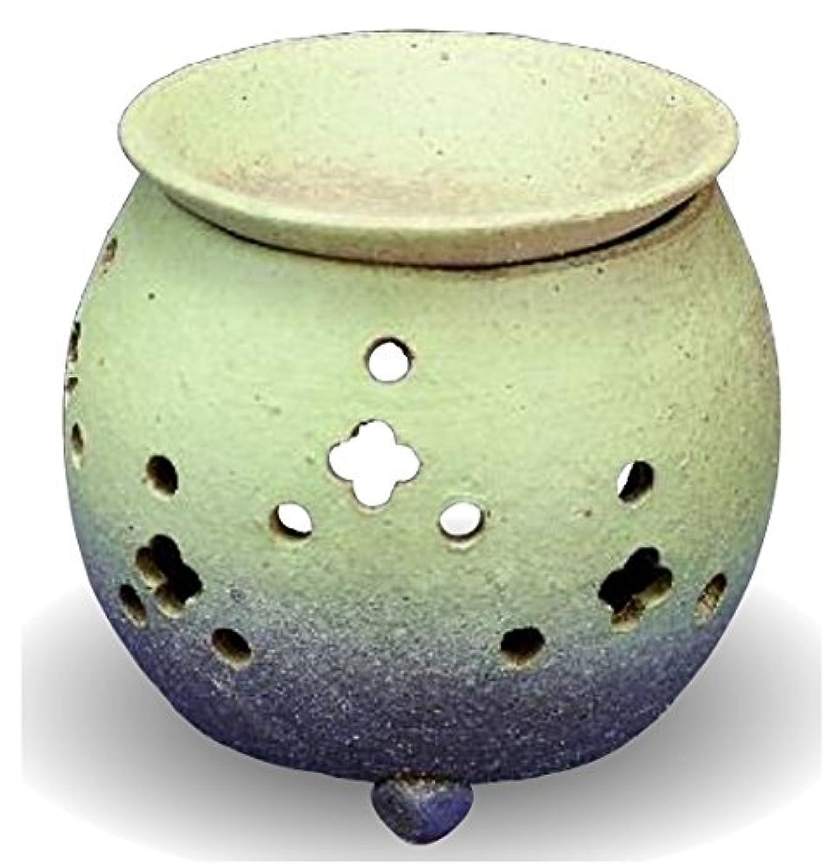 ロシア職業帰する常滑焼 茶香炉(アロマポット)径10×高さ11.5cm