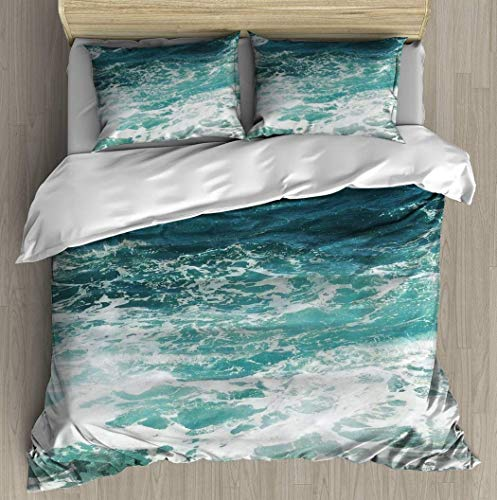 HUNKKY - Juego de cama con 2 almohadas de estilo simple para cama de matrimonio suave (funda de edredón de 102 pulgadas y 90 pulgadas), estilo informal y moderno