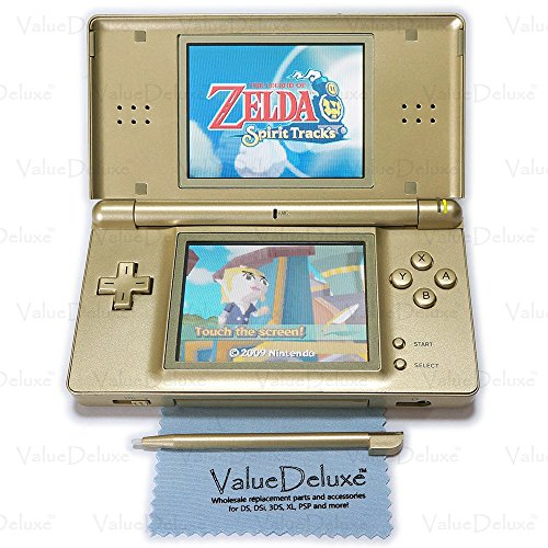 ValueDeluxe Custom Zelda Gold Nintendo DS Lite System Hand held Gaming Console + Bonus World AC Adapter