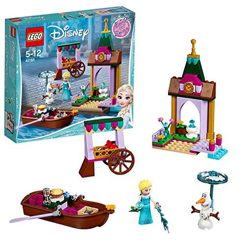 LEGO Disney Princess 41155 - Frozen Elsas Abenteuer auf dem Markt, Spielzeug für Mädchen und Jungen
