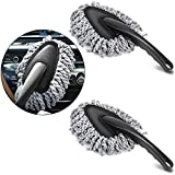 Multi-Functional Car Dash Duster 2 Pack Microfiber Car Duster Interior & Exterior Cleaning Dirt Dust Clean Brush Dusting Tool Mop for Car Motorcycle Automotive Dashboard Air Vents