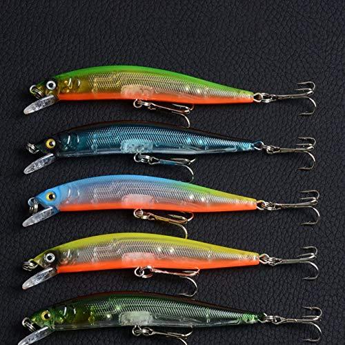 Surobayuusaku Fishing Lures Bass Trout Hard Plastic Swimbaits Lifelike Artificial Pro Fish Lure Baits Treble Hooks Freshwater Saltwater