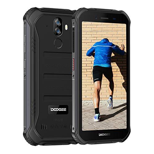 DOOGEE S40 アウトドア スマートフォン 4G SIMフリー スマホ本体 Android 9.0 IP68 防水 防塵 耐衝撃 スマートフォン本体 3GB RAM+32GB ROM 4650mAh大容量バッテリー 5.5インチ HD 全画面 指紋認識 顔認証 携帯電話 デュアルSIM デュアルカメラ80°広角 NFC LEDライト 防災用品 AU不可 技適認証済み 一年保証 (黒)