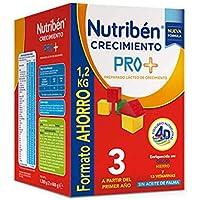 Nutribén 8430094309109 Leche Crecimiento Pro + 3 Formato Ahorro - 1200 gr