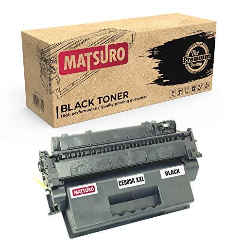 Matsuro Original | Compatible Cartucho de Toner Reemplazo para HP CE505A 05A XXL (1 Negro)
