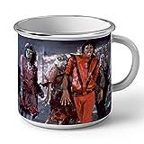 Mug en Métal Emaillé Michael Jackson Thriller Chanteur Pop Star Celebrite
