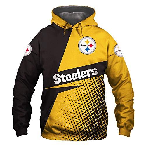 \t Hoodie NFL Pittsburgh Steelers Fans Langarmtrikot Beiläufige Large Size Sweatshirt 3D-Druck Trendy Frühlings-Sport-Jacke - Teen Gift A-M