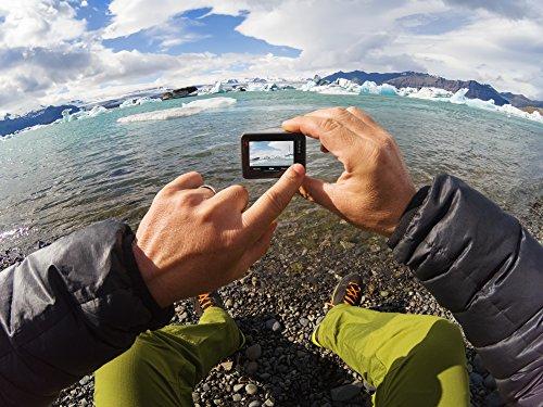 """GoPro Hero6 Videocámara de acción (4K, 12 MP, resistente y sumergible hasta 10m sin carcasa, pantalla táctil 2""""), Negro"""