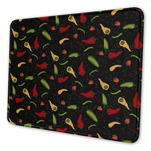Mousepad Rot Gelb Grün Chili Pfeffer Rechteck Computer Rutschfeste Spielmatte Mousepad Gummi Bunt Laptop Bürozubehör 3 Größen Schreibtisch Dekor Benutzerdefinierte Schule 20X24cm