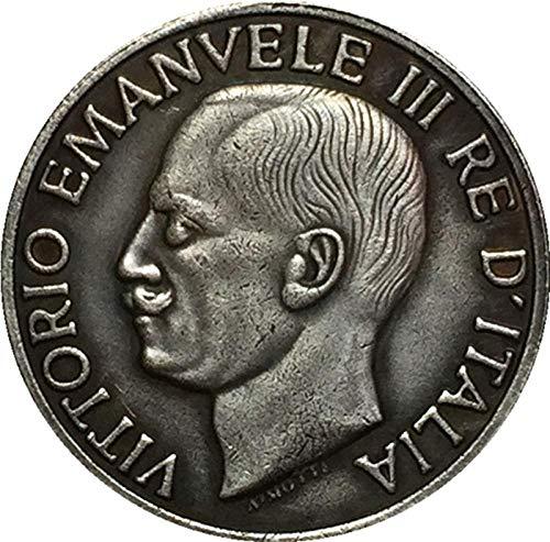 Chaenyu 1923 Italienische Münze 20 Lire reines Kupfer versilbert Antik Silber Dollar Kunsthandwerk Dekoration Gedenkmünze