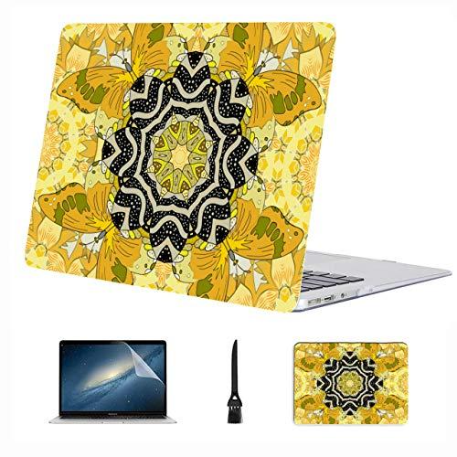 Mackbook Pro Case Beautiful Yellow Streak Geometry Carcasa rígida de plástico Compatible con Mac Air 13'Pro 13' / 16'Accesorios para Macbook Cubierta Protectora para Macbook Versión 2016-2020