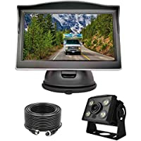 Camons Wired Backup Camera System Kit with 5 Inch LCD Rear View Monitor