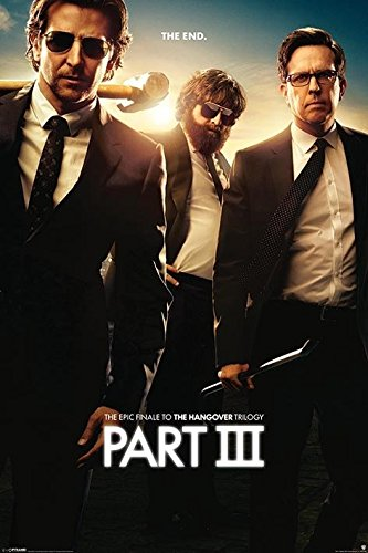 The Hangover Teil 3 Maxi Poster, Mehrfarbig