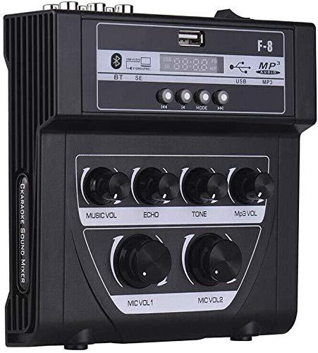 Mini karaoke Mixer Micrófono Stereo Audio Echo Mixer Home/Outdoor Sound Console Mischer