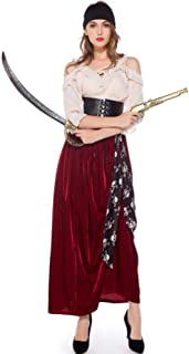 Adults Halloween Clothing, Pirate Queen Costume, Suitable for Cosplay, Opera, Drama, Easter, Carnival, Theme Party,M