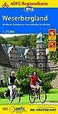 ADFC-Regionalkarte Weserbergland, 1:75.000, reiß- und wetterfest, GPS-Tracks Download: Mit Weser-Radweg von Hann.Münden bis Minden (ADFC-Regionalkarte 1:75000)