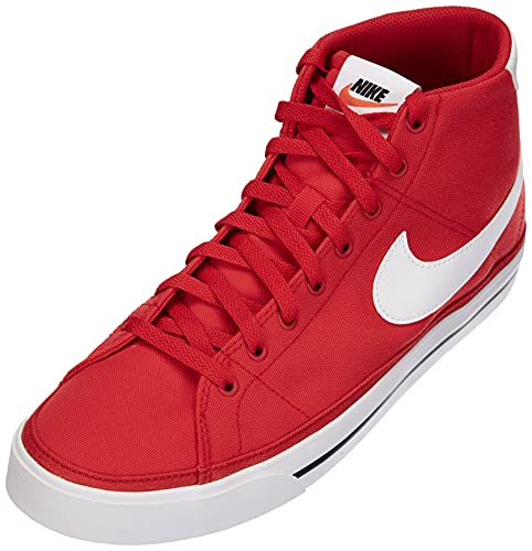 Nike Court Legacy Mid Canvas, Scarpe da Tennis Uomo, Rosso Bianco, 43 EU