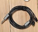 OFC Upgrade Audio Cable Cord for Shure SE846 SE535 SE425 SE315 SE215 UE900 (Black)