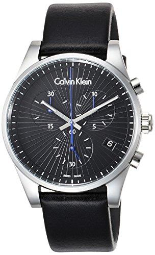 Calvin Klein Herren Chronograph Quarz Uhr mit Leder Armband K8S271C1