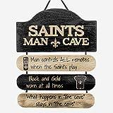 New Orleans Saints NFL Mancave Team Logo Man Cave Hanging Wall Sign