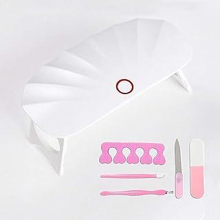 最新版UVライト LEDネイルドライヤー ジェルネイルLEDライト Mini 硬化ライト タイマ 設定可能30S 折りたたみ式手足とも使える 人感センサー式 UV と LEDダブルライト ジェルネイル用 贈り物 5種類のマニキュアツール