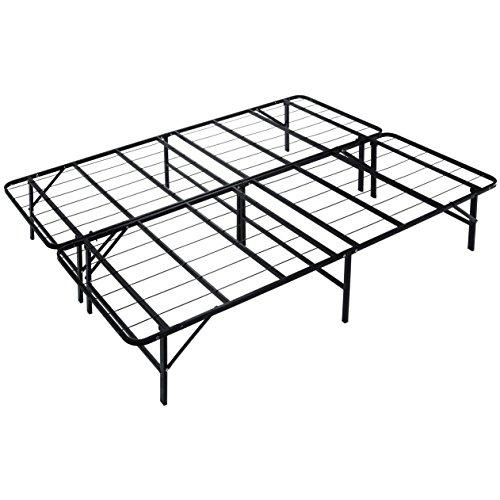 Naomi Home idealBase 14' Foldable Metal Platform Bed Frame - Mattress Foundation...