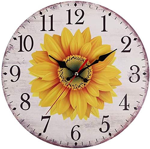 Fayeille Reloj de Pared, Girasol Reloj de Pared...