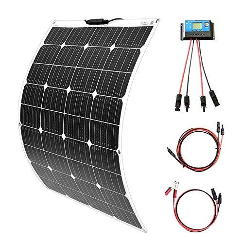 YUANFENGPOWER 100 watt 18v Flexible Solarpanel Kit Einkristallines Modul + 10A Solarregler für Boot Auto Wohnmobil Caravan Home 12 v Ladegerät