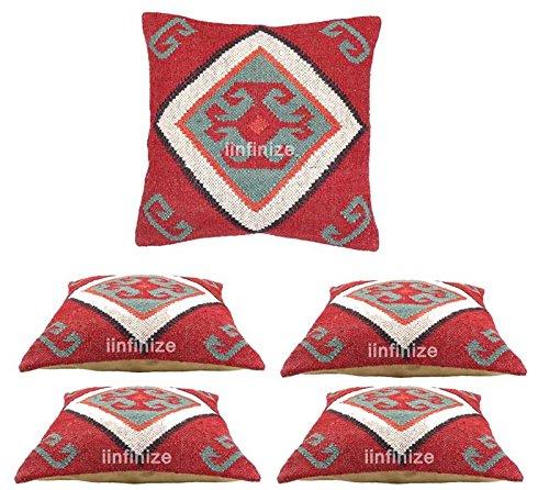 Funda de cojín de yute de estilo indio de 60 x 60 cm, hecha a mano, de yute kilim, funda de cojín de yute para exteriores, reversible tejido a mano, estilo vintage étnico para exteriores, fundas de almohada bohemias, fundas de almohada de yute tejida a mano, rústico hecho a mano, funda de cojín de yute rústico, fundas de almohada de sofá, fundas de almohada decorativas de yute, fundas de almohada bohemias, fundas de almohada bohemias